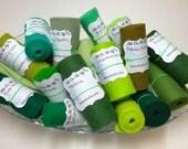 Wool Felt Rolls, Set of Three, Fabric Remnants, DIY Crowns, Felt Flowers, Felt Ribbon, 18 Inch Roll, Applique