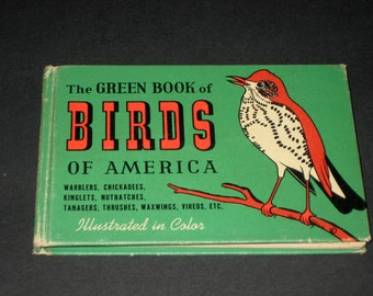 The Green Book of Birds of America -  Vintage (1941) Illustrated Books of Birds