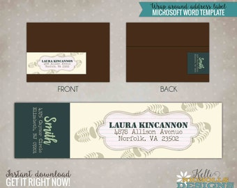 Boot Camp Address Labels, Custom Boot Camp Wrap Around Return Address Template, Instant Download #B134