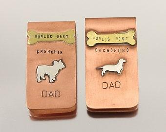 World's Best Frenchie or Dachshund Dad Money Clip