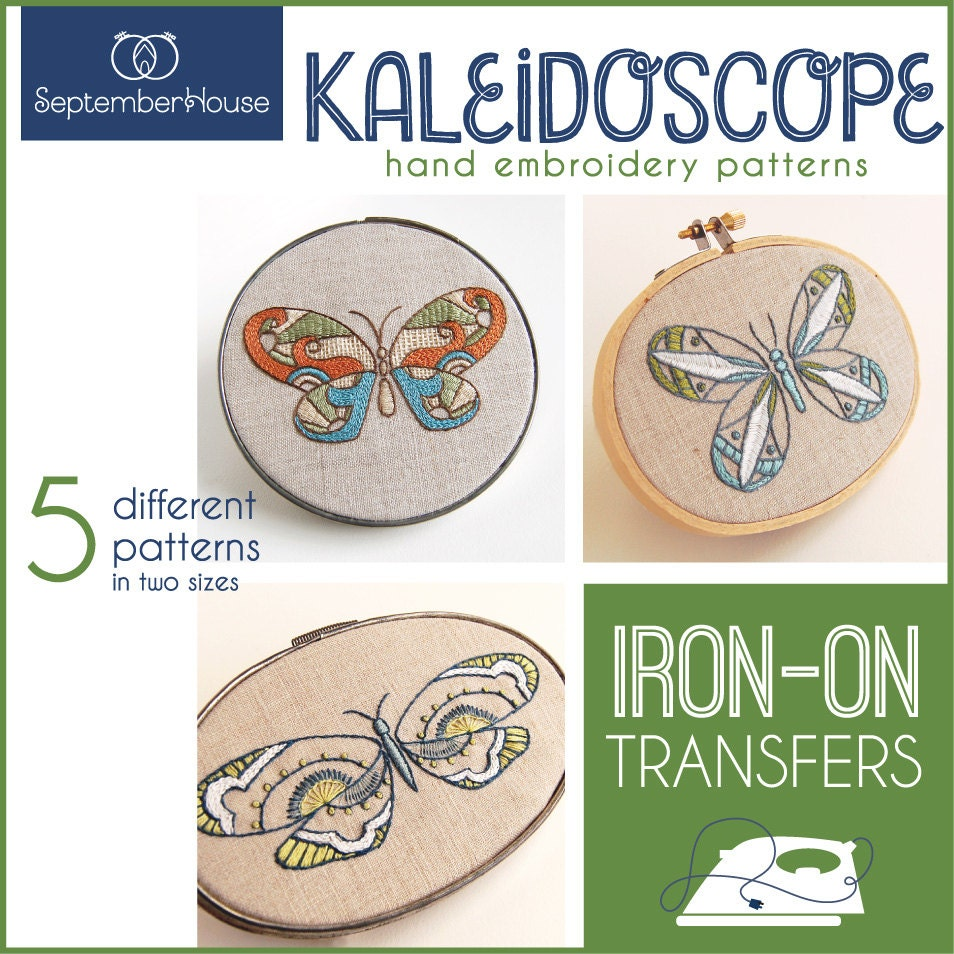 Iron on embroidery patterns transfers kaleidoscope