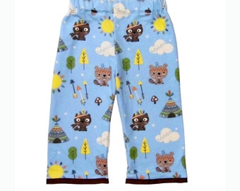 Arrow Pants - Tee Pee - Forest - Woodland - Raccoon - Blue Pants - Brown Pants - Baby Pants - Boy Pants - 6m - 12m - 18m