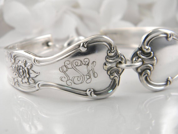 Personalized Bracelet, Monogram Bracelet, Spoon Bracelet, Spoon Jewelry, Personalized, Monogram, Gift For Her, Gift For Woman