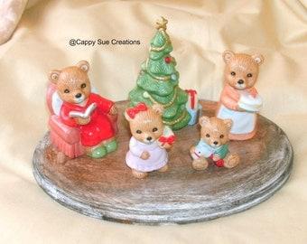 A Beary Merry Christmas Bear Christmas figurine diorama
