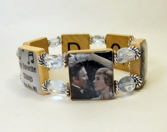 SOUND Of MUSIC / SCRABBLE Bracelet / Handmade Jewelry / Classic Movies / Musical Theater