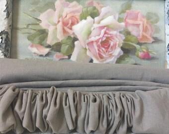 Linen Pewter Chandelier or Cord Cover - Paris Apt Decor - Linen Chandelier Cover