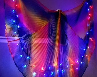 Rainbow prism goddess LED dance wings