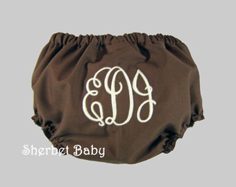 Any Color Handmade Lined Monogrammed Bloomers Diaper Cover Panty Any Color Boy or Girl  Fully Lined