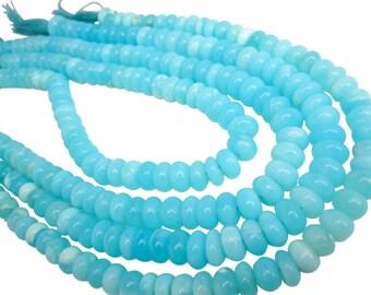 Blue Peruvian Opal Beads, Peruvian Opal Beads, Blue Opal Beads, Rondelles, SKU 4915