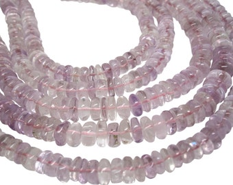 Pink Amethyst Beads, 7mm, Smooth Rondelles, SKU 4459A