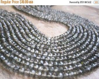 SALE Mystic Quartz Beads, Green Mystic Quartz, 3.2mm, Faceted Rondelles, Full 14 inch strand, Sage Green, Loveofjewelry, SKU 2081