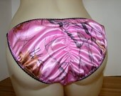 Super ShinyTransgender Alternate life style String Bikini Full Bum or Butt Hugging seam Pretty Rose Pink size S M L XL