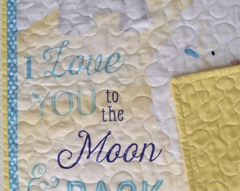 Baby's Nursery Decor I Love you to the Moon and Back Wall Hanging Children's Decor