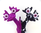 Two Headed Alien Toy, Conjoined Twin Toy, Siamese Twin, Alien Toy, Alien Plush, Monster Toy by Adopt an Alien named Violet and Oreo