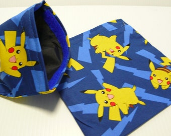 2pc  Reusable Sandwich and Snack Bag Set Pokemon Pikachu