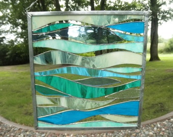 Serene- Stained Glass Panel