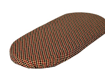 """MB sheet fits 26-27"""" in length- Black and Red Checkers 100% cotton"""