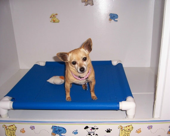 Raised Bed, Pet Bedding, Dog Bed, Water Repellant Dog Bed PVC Cot, Small Bed, Cat Bed, Pet Bed, 13 Canvas Colors 24x24 Dogs Up To 80 Pounds.