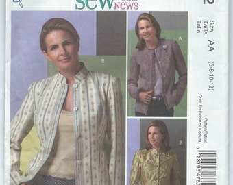 McCall's M4782 Misses' Lined Jackets - Size 6-8-10-12 - Uncut Pattern