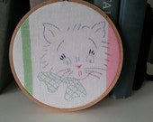 Custom Order For Tillyblue, Vintage Hoop Art, 2 Hoop Art Picture's