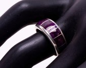 Ray Tracey Sugilite Inlay Ring - Early Stamp with Knifewing Segura - sz 6 1/2