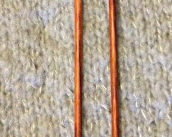 """US #4 X 10"""" Single Point Bubinga Knitting Needles"""