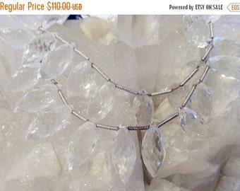 50% Mega Sale 17mm Faceted Rock Crystal Pendants
