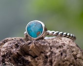 Morenci Turquoise Pebble stacker ring ~ Day Dreamer stacking set -