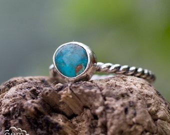 Morenci Turquoise Pebble stacker ring ~ Day Dreamer stacking set -