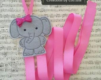 Elephant, Elephant Hair Bow Holder, Hair Clip Holder, Hair Bow Holder, Clippie Holder, Hair Clip Holder, Clip Keeper, Bow Holder