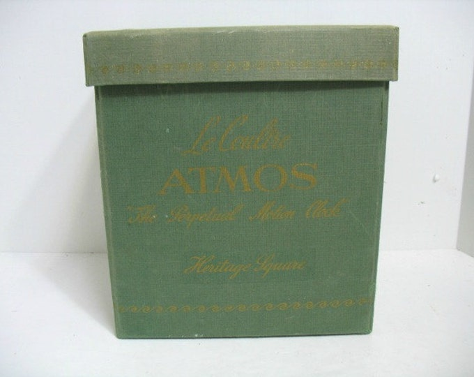 Vintage Le Coultre Atmos Perpetual Motion Clock Box Only, Circa: 1961 Green Carrying Case for Atmos Clock