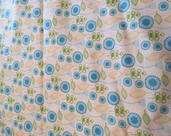 Blue Blooms & Bursts Fabric By Jen Da Silva
