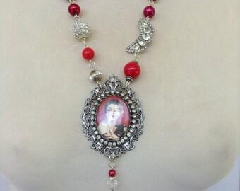 Art Deco flapper vintage inspired necklace