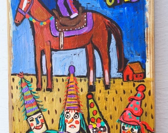 Louisiana Folk Art Cajun Mardi Gras Painting