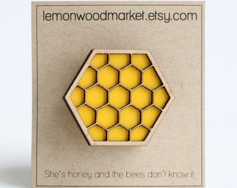 Honeycomb hair clip - Yellow honeycomb hair clip