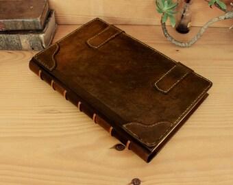 Very Large Journal, Artist Sketchbook, Brown Vintage Leather - Time Capsule