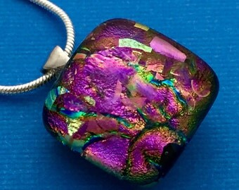 Royal Reception - Dichroic Glass Pendant Necklace
