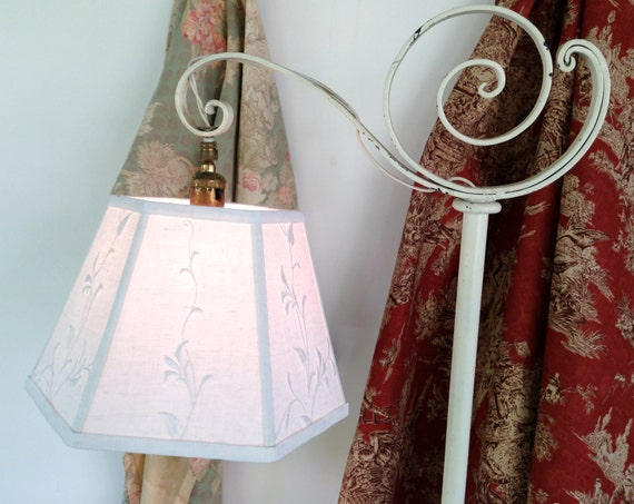 Floor Lamp With Arm >> Uno Floral Lamp Shade Lampshade in Vintage Cream Embroidery