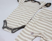 SALE Sand Stripe Newborn Bamboo Onesie and Pants Set