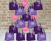 13 bridesmaid tote bags , bridesmaid gifts , tote bag , beach bag , bachelorette party gift ,wedding bag , maid of honor