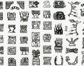 MOUNTED Rubber Stamp Set Z111 - Tikis & Totems