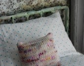 Adorable Hand Knit Throw Pillow for Blythe