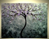 Abstract Floral Tree PAINTING Contemporary Impasto Art XLarge ORIGINAL gallery wrap canvas by Dan Lafferty - 40x30