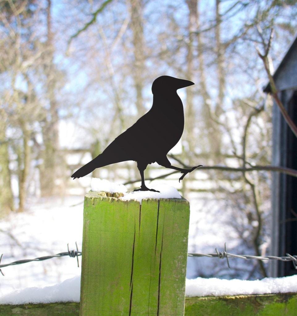 Crow Yard Art, Lawn Ornament