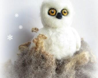 Owl ornament,animal ornament,needle felted owl,needle felted animal,Felt ornament,Felted animal,
