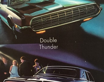 1968 Ford Thunderbirds, 2 Door Hardtop And 4 Door Landau Magazine Ad