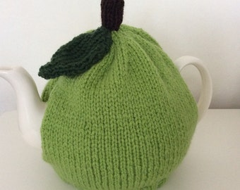 Knitted Tea Cosy - Apple design Fits a 6 cup pot