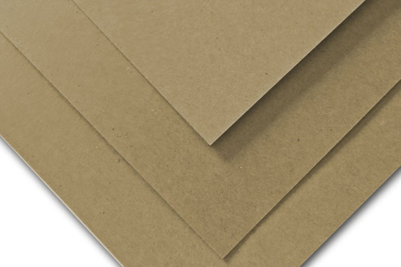 Brown Bag KRAFT 65lb cardstock 8.5x11 recycled content - 100 pack