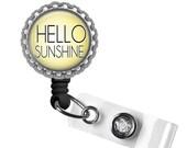 ON SALE - Hello Sunshine Nurse, Doctor ID Badge Reel Smile - Dentist Gift, Dental Assistant, Nurse Lanyard, Gifts for Nurses, Peds Rn