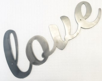 Wall Hanging Metal Word Art - Love